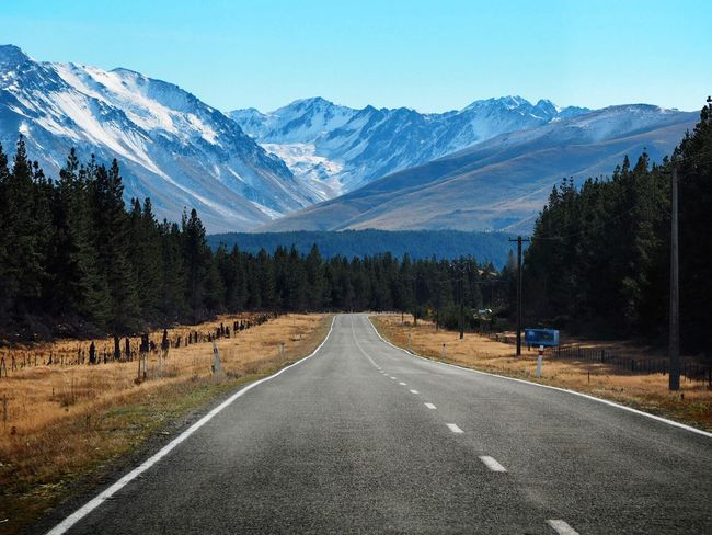 The Way Forward Road Mountain Transportation Scenics Mountain Range Beauty In Nature Snowcapped Mountain Drivebyphotography Snowscape The Way The Way I View The World Go On  Go Forward New Zealand Impressions New Zealand Landscape New Zealand Beauty New Zealand Scenery South Island New Zealand Snow Mountain Road Trip Photograpghy