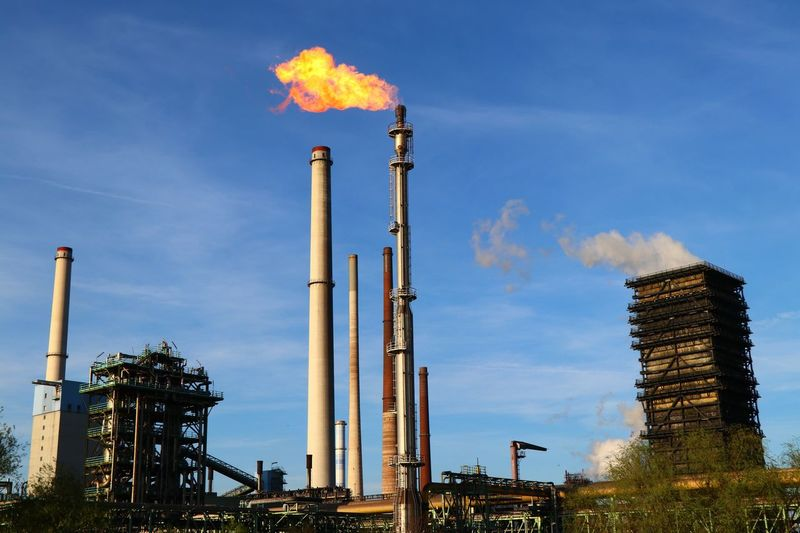 phase 1 Factory Industry Building Exterior Sky Smoke Stack Fuel And Power Generation Smoke - Physical Structure Environmental Issues Pollution Low Angle View Built Structure Air Pollution Nature Environment Cloud - Sky No People Oil Industry Architecture Environmental Damage Emitting