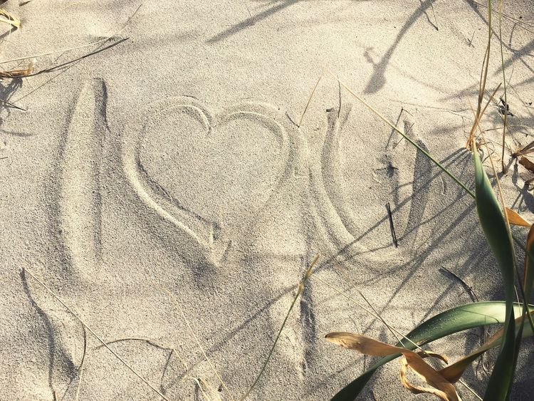 Sand Iloveyou Written In The Sand