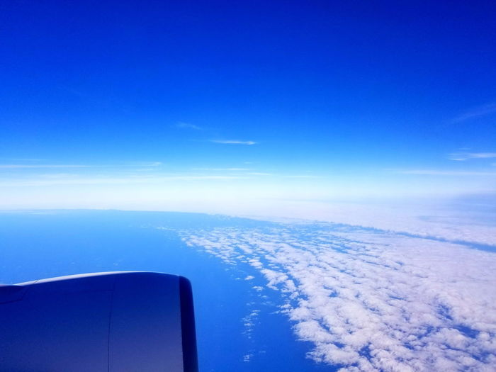 The edge of the tyohoon 5th Sea Blue Aerial View Water No People Airplane Sailing Transportation Nature Journey Outdoors Sky Flying Day Nautical Vessel Beauty In Nature Sailing Ship Close-up Japan Photography Viewfromthewindow Landscape Boeing777 Typhoon Clouds Sky And Clouds