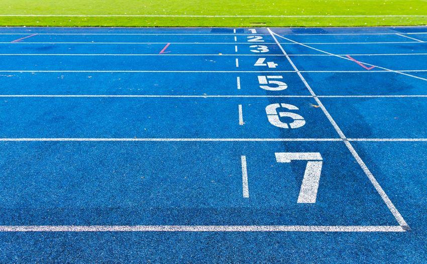 Blue Finish Laufbahn Numbers Running Running Track Sport Sport Track And Field Sportfield Sprint Sprinting Stadium Target Ziel