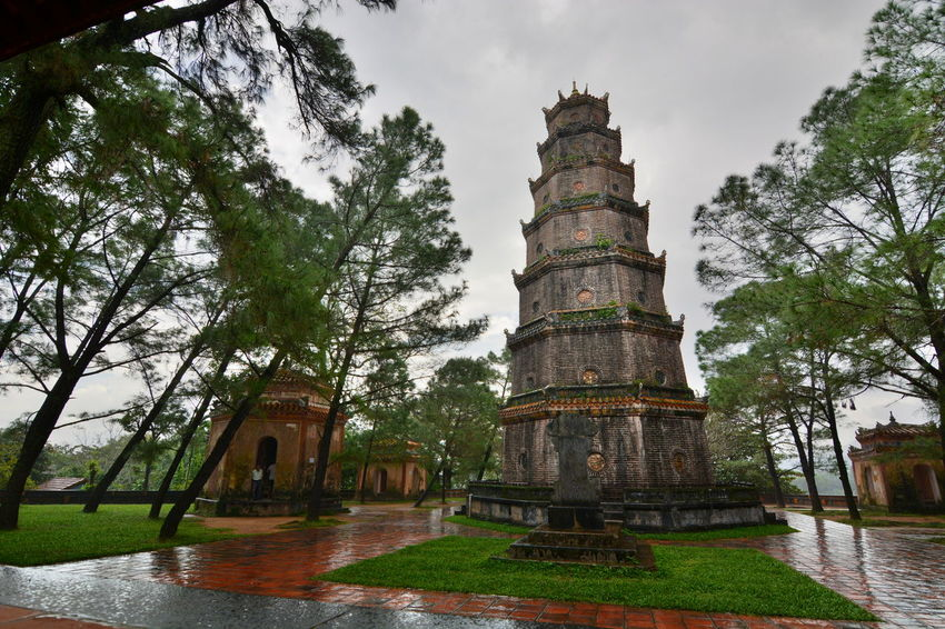 Raining day in Thien Mu Pagoda Ancient Architecture ASIA Building Exterior Built Structure Famous Place History Huế Outdoors Pagoda Place Of Worship Rainy Days Religion Spirituality Temple The Past Thien Mu Pagoda ThienMupagoda Tourism Tower Travel Travel Destinations Vietnam