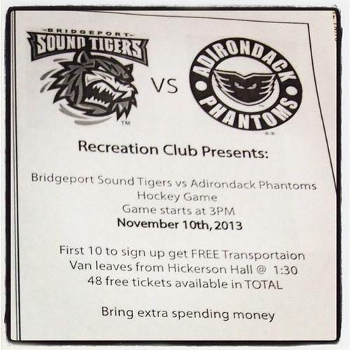 Recreationclub Soundtigers Phantoms Bridgeport  adirondack hockey game ice freeticket signupquick