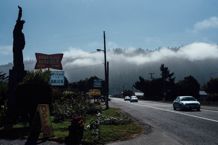 Welcome To Orick California Cars Cloud - Sky Country Orick Road Sky Street