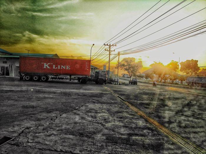 Be. Ready. Sunset Kline Transportation Longvehicle Extreme Editing Hino Truck Outdoors