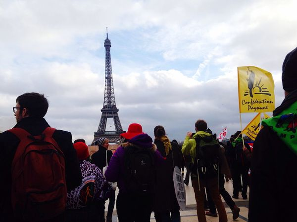 Paris Campaign For Climate Change How Do You See Climate Change? Demonstration Save The World Ecology Environmental Conservation Tour Eiffel