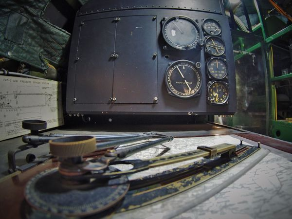 Navigation area on old DC3 Navigational Instrument Navigational Equipment Dc3forever AirPlane ✈ Aircraft Navigation Aircraft Interior Indoors  No People Control Panel Day Technology Close-up Gauge