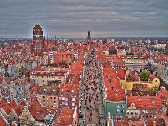 Long street in gdansk