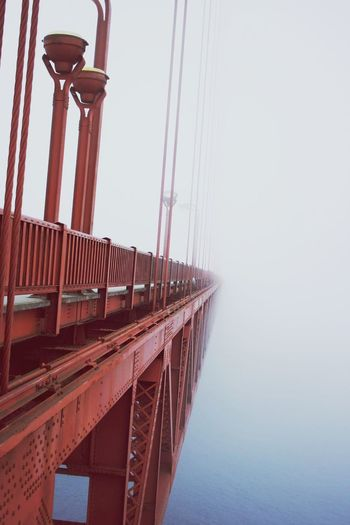 walking into the void San Francisco Golden Gate Bridge Fog Foggy Architecture City Bridge - Man Made Structure Sky Architecture Built Structure