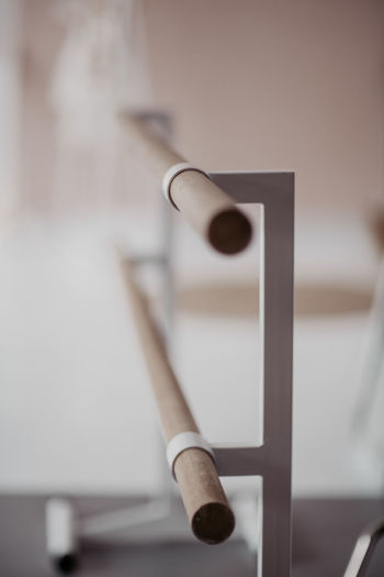 Close-up of pipes on wall at home