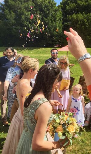 Just Married Bouquet Bouquet Of Flowers Friends Beautiful Day Togetherness Together Love The Moot Wedding Photography Couple Colour Of Life Wedding Colour Flowers Confetti Dried Flowers Dried Flower Confetti