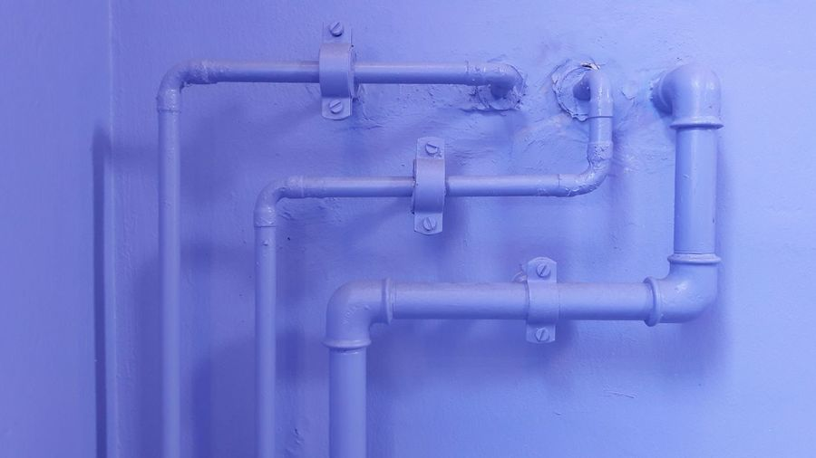 Close-Up Of Metal Pipes