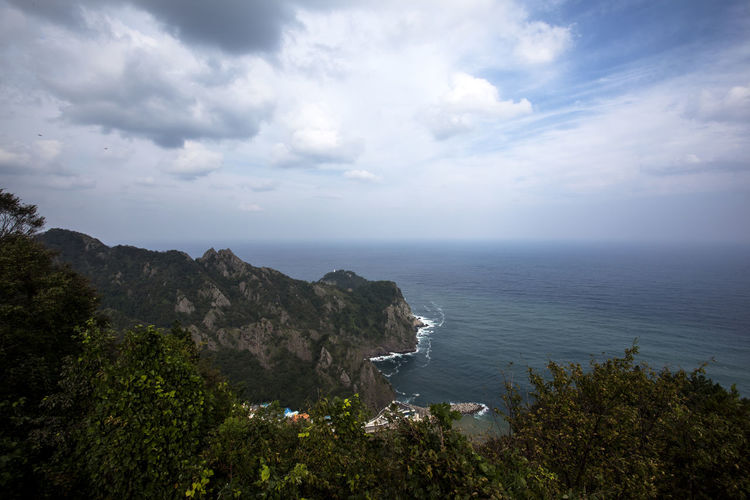 Ulleungdo is the most mysterious island. It is located at East Sea of South Korea. I have been there for 13 days for photo travel. Beauty In Nature Blue Calm Cliff Cloud Cloud - Sky Day Growth High Angle View Horizon Over Water Idyllic Island Mountain Nature Non-urban Scene Ocean Scenics Sea Seascape Sky Tranquil Scene Tranquility Tree Ulleungdo Water