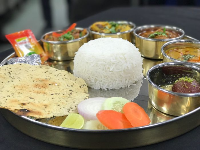 Traditional Indian Thali Indian Thali Serving Size Indian Food Food