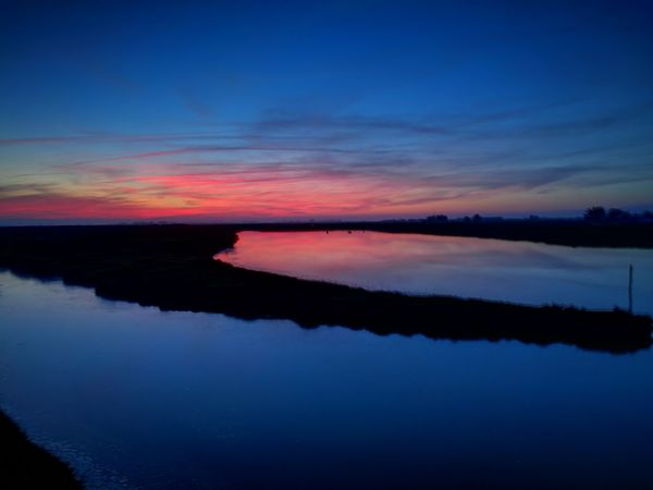 Reflection Horizon Over Water Beauty In Nature Scenics Water Sky Outdoors Nature Red Night No People Sunset Landscape Multi Colored Huawai P9 France🇫🇷 Vendée Saint-Urbain Marais