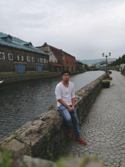 Otaru Canal Hokkaido,Japan Hokkaido Otaru,Hokkaido,Japan Otaru Man One Person Outdoors River Bank View