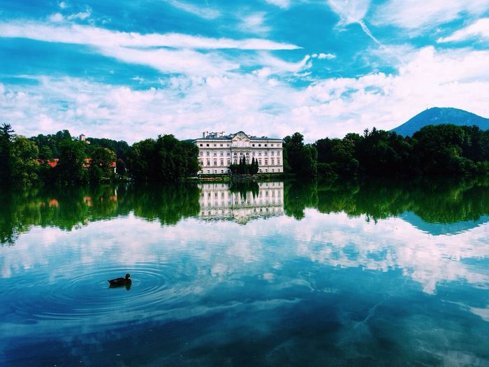 My Year My View Water Reflection Sky Lake Architecture Colors
