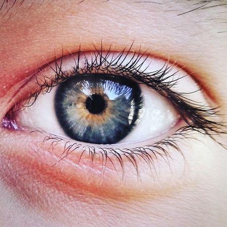 get lost in her eye... Beautiful BlUe <3 Deep Sea EyeEm Best Shots Blue Close-up Eyeball Eyelash Human Body Part Human Eye Iris - Eye Universe