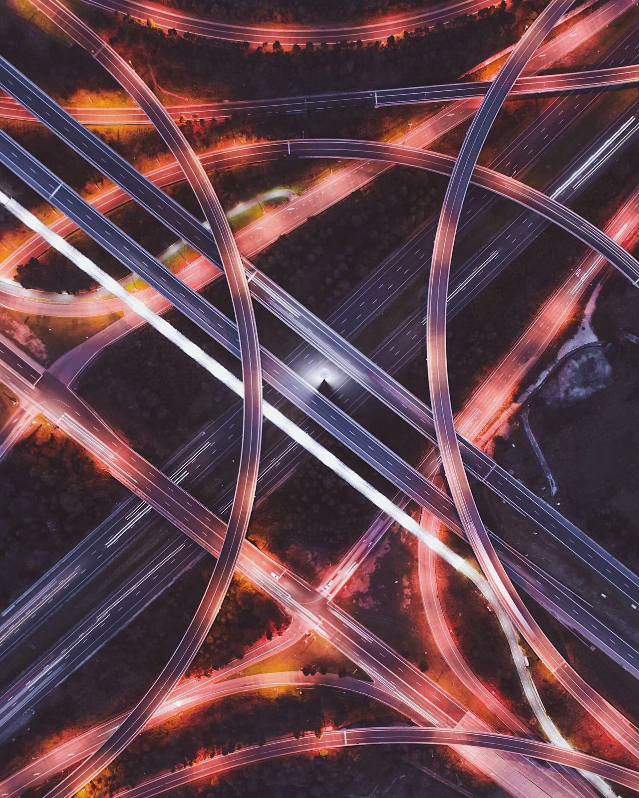 Full frame shot of roads