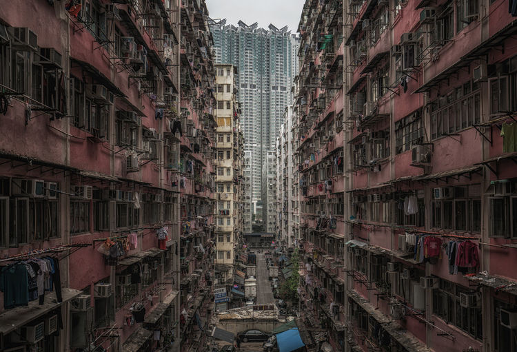 Exterior of buildings at kowloon in city