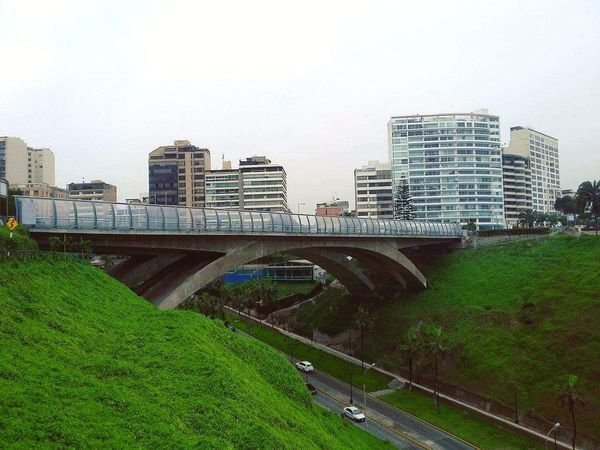 City Cityscape Travel Destinations Building Exterior Architecture Urban Skyline Outdoors Modern Bridge - Man Made Structure Skyscraper Grass No People Day Sky Miles Away