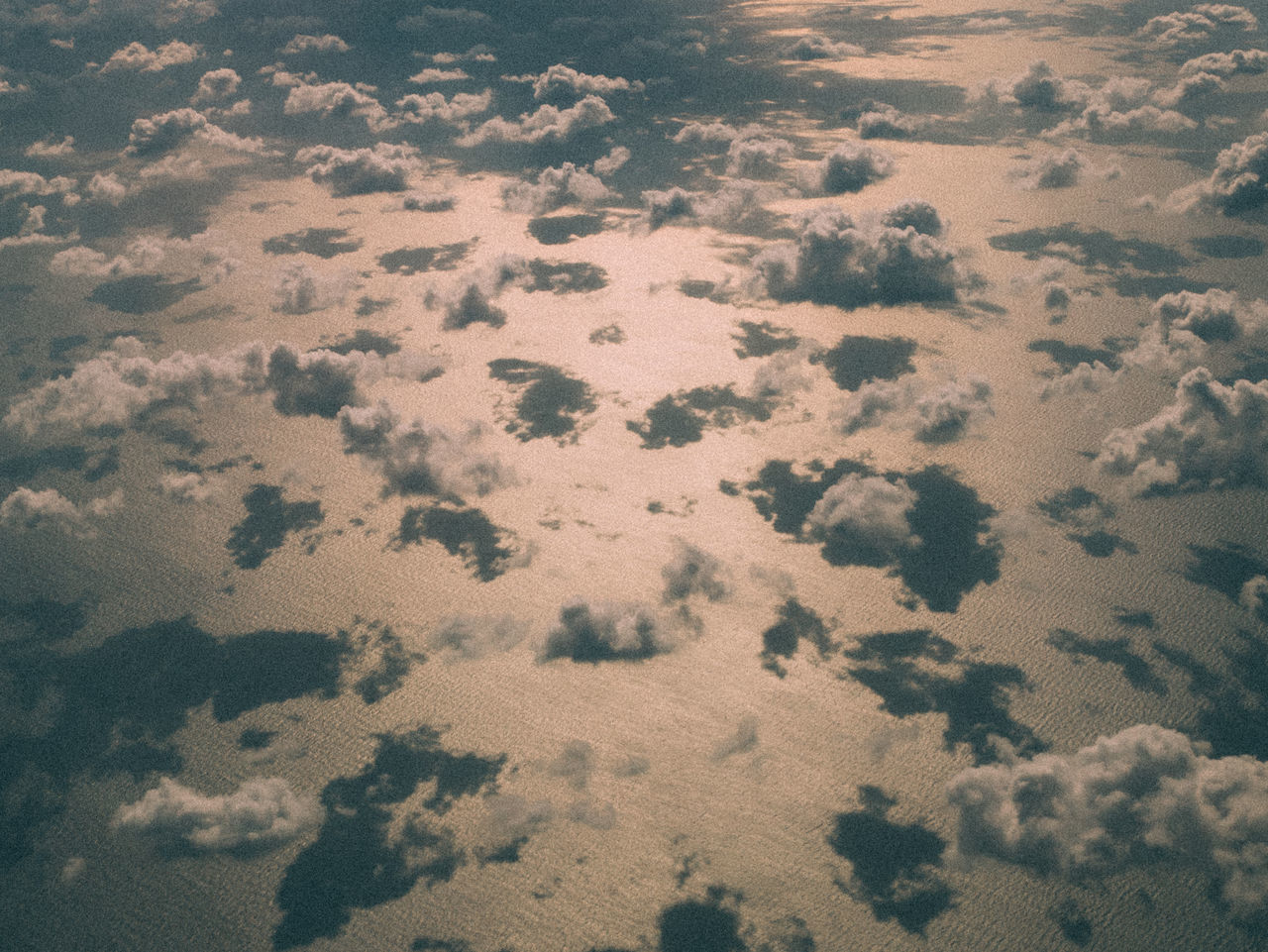 High Angle View of Clouds Against Sea