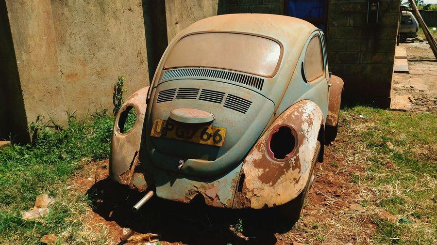 VW Beetle Rusting Car Classic Car Vintage VW Scrap Car Restoration Project