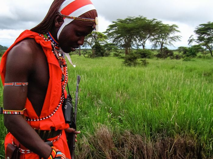 Masai Mara Masai Masai Tribe African Africa Kenya Kenyan Kenyan Safari Safari Guide Safari Guide African Landscape Landscape Masai Red Grassland Clouds And Sky Safety Safe Keep You Safe