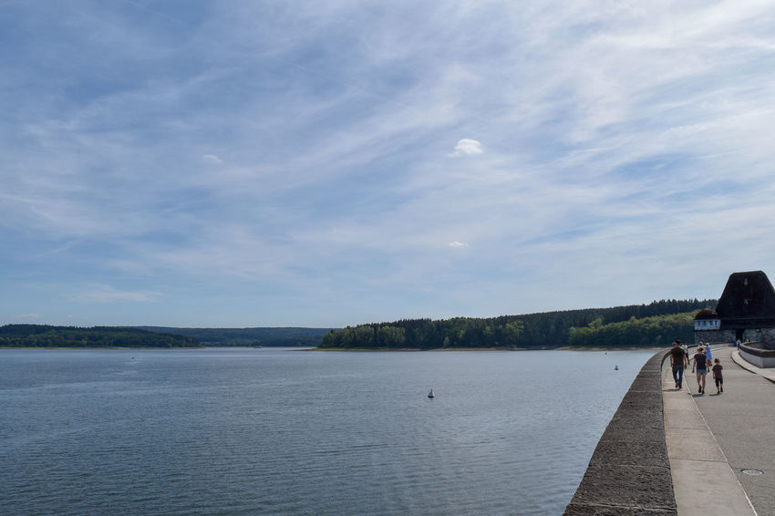 Lakeview at the waterdam - Möhnesee Family Möhnesee Waterdam Beach Beauty In Nature Clouds And Sky Day Germany Lake Lake View Nature Outdoors People People Walking  Scenics - Nature Sky Summer Water Waterfront Waves Women