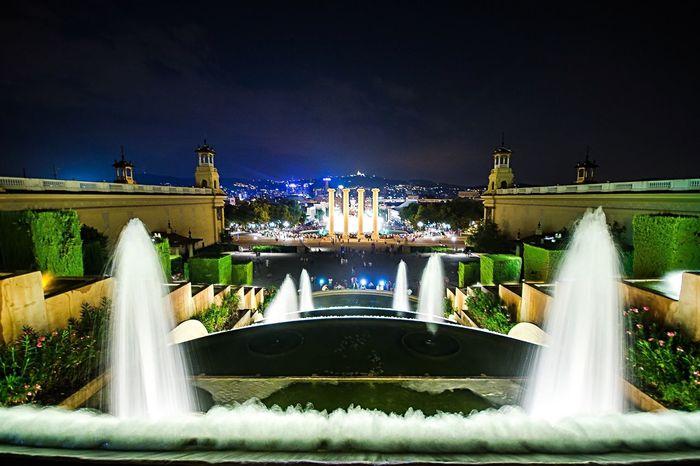 Barcelona Night City Cityscapes Cityscape DmitryBarykin