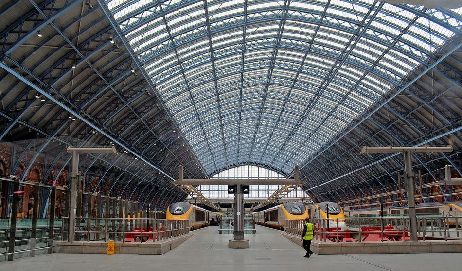 Architecture Built Structure Glass London Rail Station, Station, Rail Depot, Depot St Pancras Station Train Station Travel