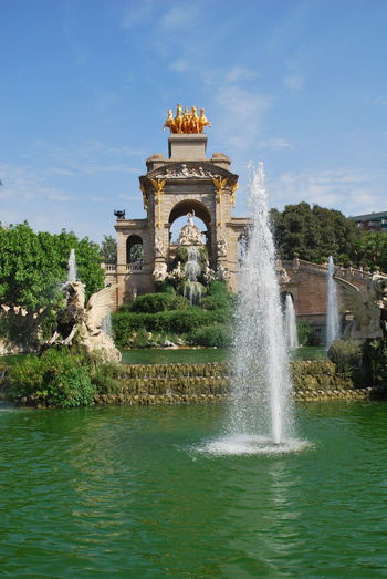 Architecture Barcelona Barcelona, Spain Catalonia Catalunya City Day Fountain Fountain No People Outdoors Park Place Of Worship SPAIN Travel Travel Destinations Water