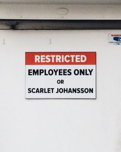 Yea, she gets a pass. Scarlett Johansson