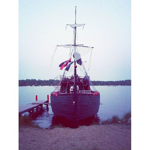 The pirate ship.