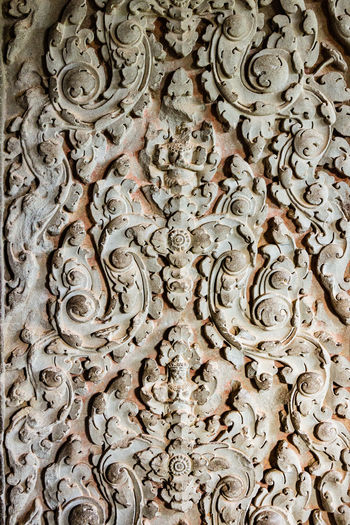 Decorative detail, Angkor Wat Angkor Wat Siem Reap Kmer Culture Pattern, Texture, Shape And Form Temple Detail Textures And Surfaces Architecture Bas Relief Building Exterior Close-up Day Detail Full Frame History No People Ornate Outdoors