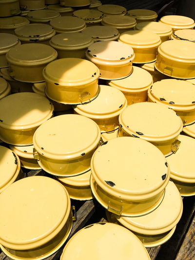 Stack Of Yellow Containers