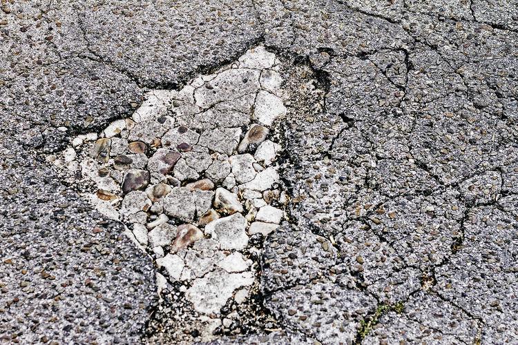 Textura CRAK Grietas Asfalto Asphalt Cement Cemento City Craks Erosion Fisuras Fisures Full Frame Grabilla Gravel Gray Gris Pattern Rock Solid Stone - Object Street Textura Textured