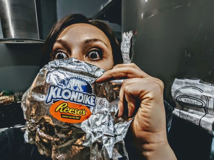 Thank you Klondike my iced cream sand which was nice Portrait Looking At Camera Headshot Front View Close-up Barbed Wire Self Portrait Photography Selfie Photography Themes
