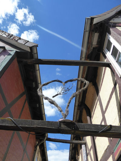 heartshape 🤗 Looking Up😍 My Favorite View Is Looking Up😄 For My Friends 😍😘🎁 Historical Building Fachwerkhäuser Celle, Niedersachsen Sky Architecture Building Exterior Built Structure
