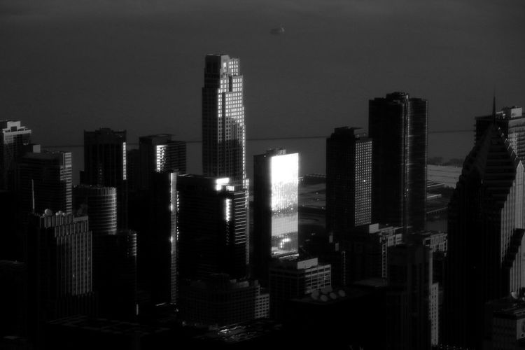 Sun touch on the city Blackandwhite Black And White Black & White Black Background Blackandwhite Photography Chicago Chicago Architecture Chicago Skyline Building Exterior City Built Structure Architecture Office Building Exterior Building Skyscraper Tall - High Cityscape Sky Modern No People Urban Skyline Landscape Tower Office Illuminated Financial District  Outdoors darkness and light Sun Sunlight Sunrise Sunset_collection