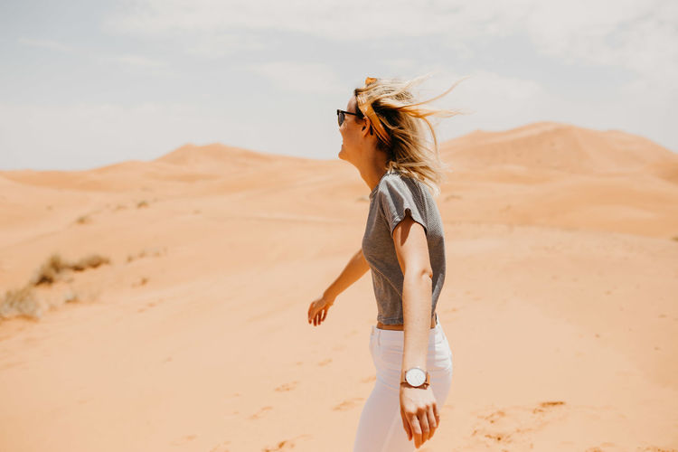 Desert Dunes Enjoying The View Freedom Friends Happiness Happy Laughing Morocco Run Travel Woman Adventure Best Friends Enjoying Life Friend Girlfriends Girls Laughter Marrakech Sahara Travel Destinations Woman Portrait Women