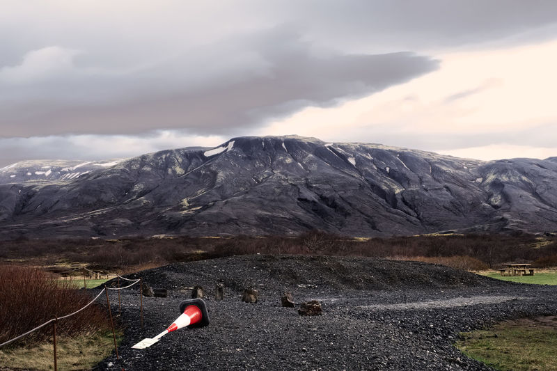 Iceland Melancholic Landscapes Trip Winter Adventure Beauty In Nature Cloud - Sky Clouds Cone Formation Landscape Melancholy Mountain Mountain Peak Mountain Range Nature Outdoors Rock Sand Scenics - Nature Sky Snow Solid Tranquil Scene Tranquility