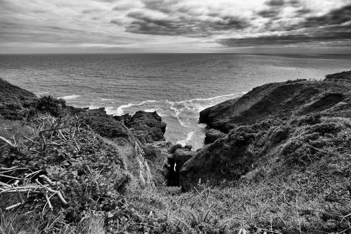 Langland Bay. Swansea, Wales 2016 ivandimarcophotography.com Beauty In Nature Blackandwhite Calm Cloud - Sky Cloudy Coastline Day Grass Horizon Over Water Idyllic Langland Bay Nature No People Non Urban Scene Non-urban Scene Outdoors Remote Scenics Sea Seascape Shore Sky Tranquil Scene Tranquility Water