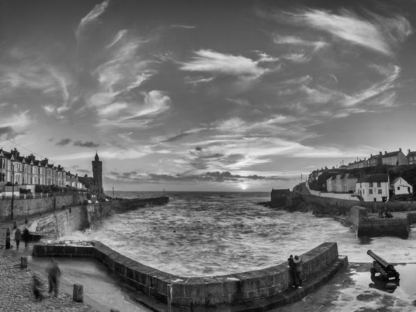 Architecture Black And White Blackandwhite Cloud - Sky Cornwall Monochrome Monochrome Photography Outdoors Porthleven Sky Sunset Water