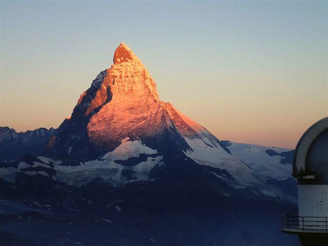 Morgenrot Morgen Matterhorn  Swiss Switzerland 3100kulmhotel Gornergrat Swiss Alps Hello World 2015.8.11