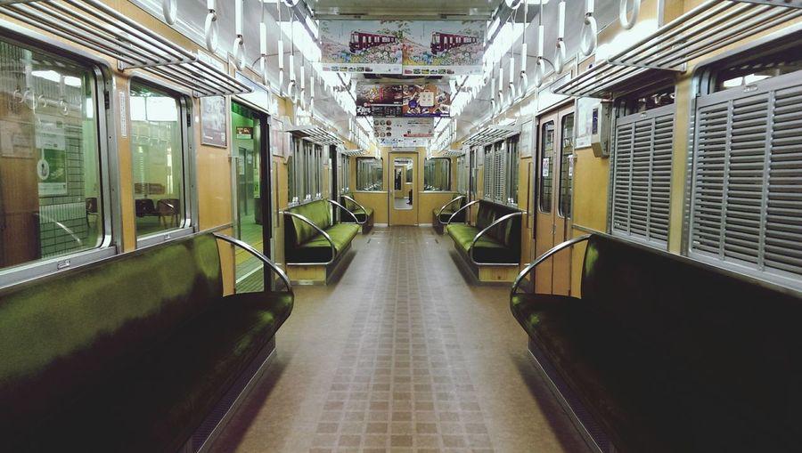 Japan Train Subway Train No People Train - Vehicle Symmetry