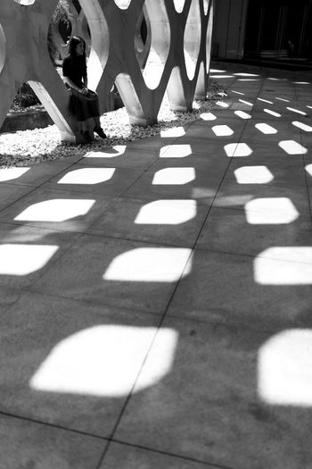 Monochrome Photography Blackandwhite Photography EyeEm Best Shots Pattern Shadow Low Section Sunlight Person Men Striped Day Sunny Outdoors Footpath Focus On Shadow