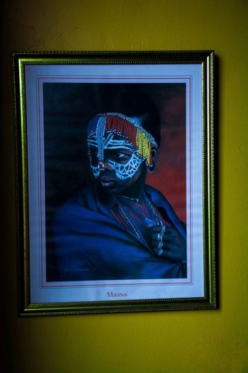 Framed —tegA— Frame Yellow Color Yellow Africa Human Body Part Disguise Indoors  Representation Art And Craft One Person Wall - Building Feature Mask Mask - Disguise Clothing Frame Adult Creativity Blue Human Face Halloween Body Part