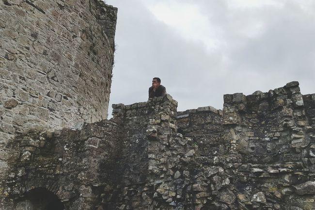 Trim castle walls. Cloud - Sky Sky Outdoors Day Trim Trim Castle Braveheart Ireland Nice View Summertime Ireland🍀 Power In Nature Rocks Castle Ruin Castle View  Castle Visiting Man One Man Only