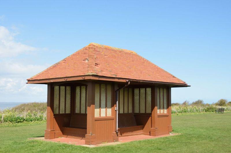 Vintage sea side shelter Hunstanton Norfolk Uk Architecture Built Structure Building Exterior Building Vintage Shelter Sea Side Hunstanton Norfolk Norfolk Uk No People Cloud - Sky Outdoors